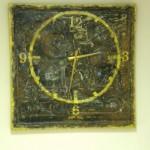 Интерьерные часы из декоративного панно из Детского мира